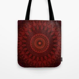 Dark and light red mandala Tote Bag