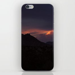 Vibrant Sunset over the Mountains in Terlingua, Big Bend - Landscape Photography iPhone Skin