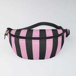 Basic Vertical Stripes - Black and Pastel Pink Fanny Pack