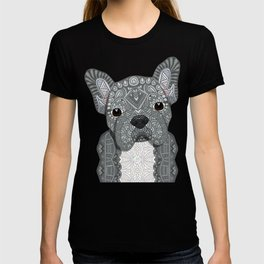 Gray Frenchie 001 T-shirt