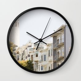 Coit Tower - San Francisco Photography Wall Clock