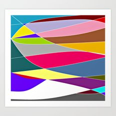 Abstract Lines & Color Art Print