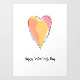 Heart Valentine's Day Card Art Print
