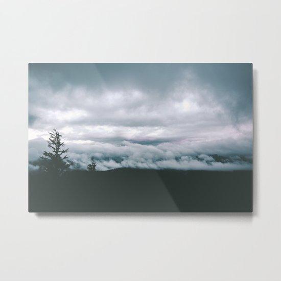 Forest Fog VII Metal Print