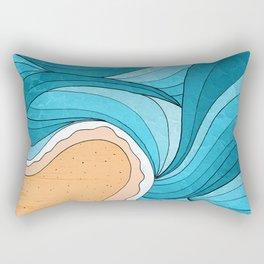 Beach Tide Rectangular Pillow