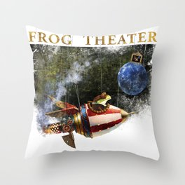 The frog theater Throw Pillow