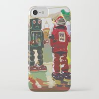 robots iPhone & iPod Cases featuring Robots by Five Ate Five Studios