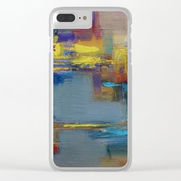 """Fragment of the painting """"Yellow City'' by Diana Grigoryeva Clear iPhone Case"""