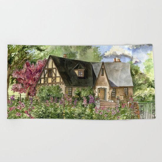 Tudor House on Kentucky Avenue Beach Towel
