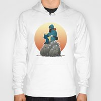 nausicaa Hoodies featuring Nausicaa & baby Ohmu taking a break... by kamonkey