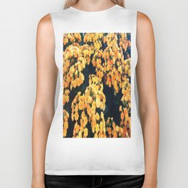 Yellow Flowers Biker Tank