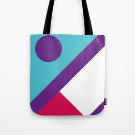 Fox Face Light Blue Tote Bag