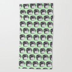 Minifigure Pattern – Mint Beach Towel