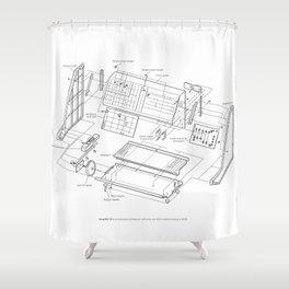 Korg MS-10 - exploded diagram Shower Curtain