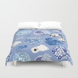 Chinoiserie Curiosity Cabinet Toss 7 Duvet Cover