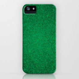 Jade Green Sparkling Jewels Pattern iPhone Case
