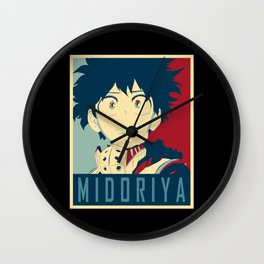 Midoriya Hope Poster Wall Clock