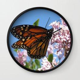 Summer Monarch Wall Clock