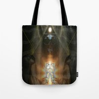 egypt Tote Bags featuring Egypt by Filip Klein