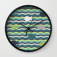 under the sea Wall Clocks featuring Under The Sea by LLL Creations