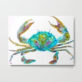 Colourful Crab Metal Print