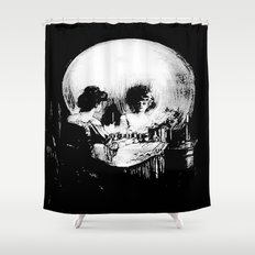 All Is Vanity: Halloween Life, Death, and Existence  Shower Curtain