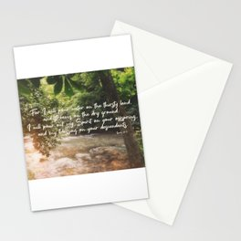 Isaiah 44 3 #bibleverse #scripture Stationery Cards
