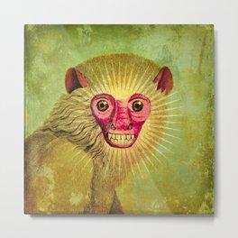 Crazy Monkey Metal Print