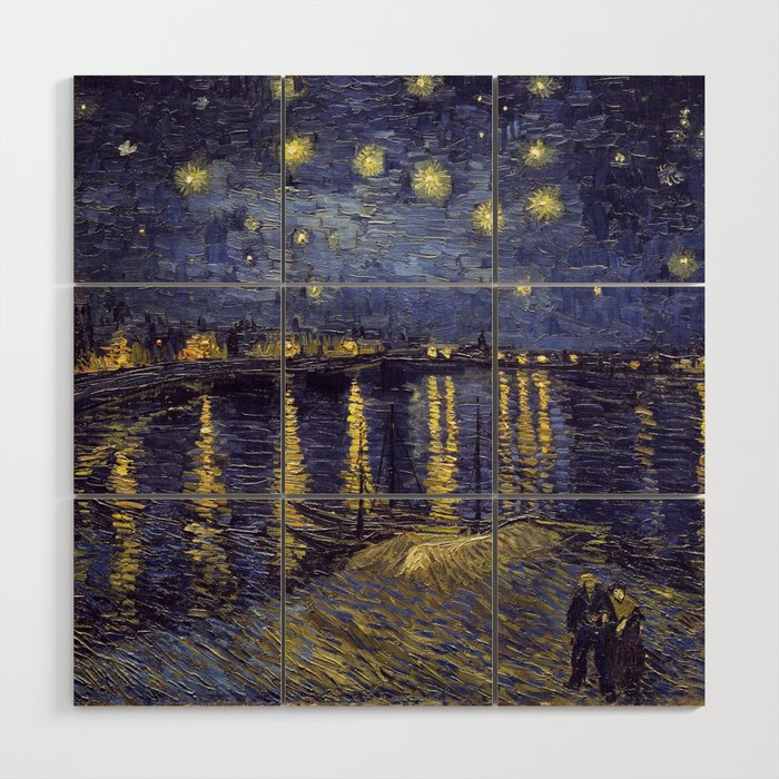 Vincent Van Gogh Starry Night Over The Rhone Wood Wall Art by ...