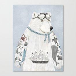 the arctic explorer Canvas Print
