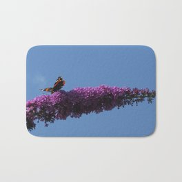 Buterfly and Flowers Bath Mat