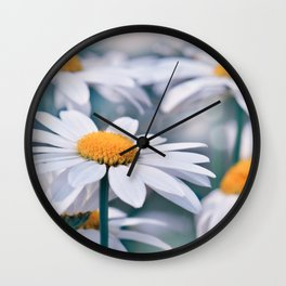 Marguerite blue 032 Wall Clock