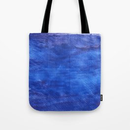 Cerulean blue abstract watercolor Tote Bag