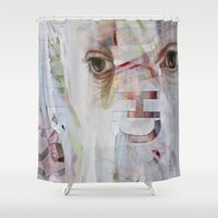 rorschach Shower Curtains featuring RORSCHACH by Rosalind Breen