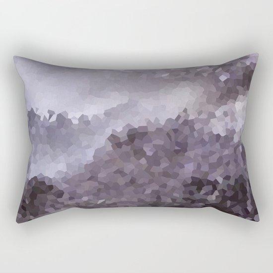 Grey crystals. Rectangular Pillow