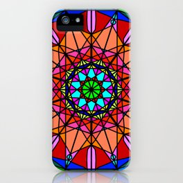 Abstract geometric oriental fractal mandala iPhone Case