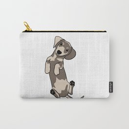 Happy dachshund illustration Carry-All Pouch
