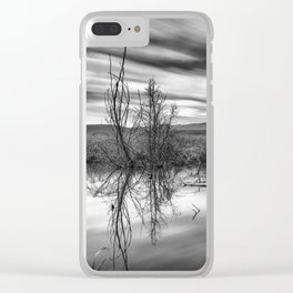 """""""Mammoth Paradise II"""" Bw Clear iPhone Case"""