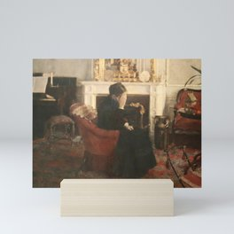 Fernand Khnopff - Listening to Music by Schumann Mini Art Print