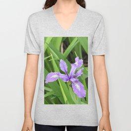 Pale Iris Unisex V-Neck