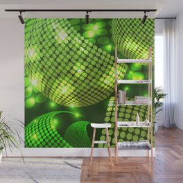 Abstract Disco Green Wall Mural