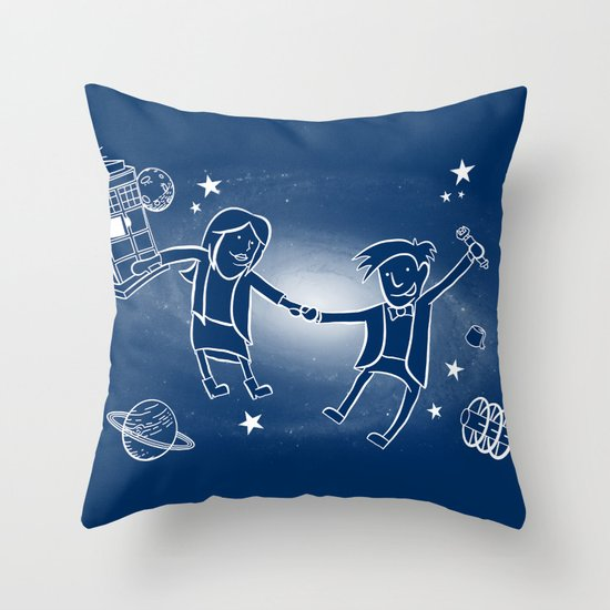 Adventures in Space/Time Throw Pillow