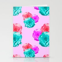 peonies Stationery Cards featuring Peonies by Aneela Rashid