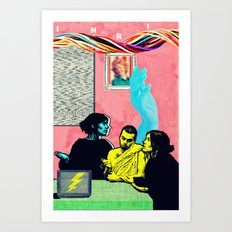 Man and Woman Reenact the Last Supper in an Age of Digital Ecstasy Panel #5 Art Print