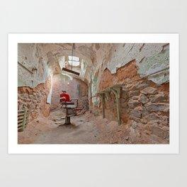 Abandoned Barber Prison Cell Art Print
