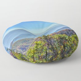 Blue Ridge Mountains Floor Pillow