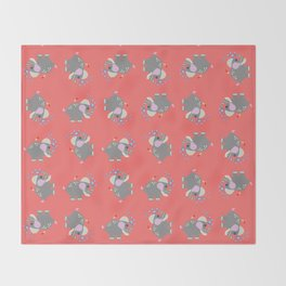 Baby Elphant Throw Blanket