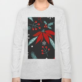 christmas flowers Long Sleeve T-shirt
