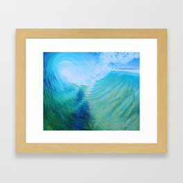 Endless Barrel, Big Wave Series Framed Art Print