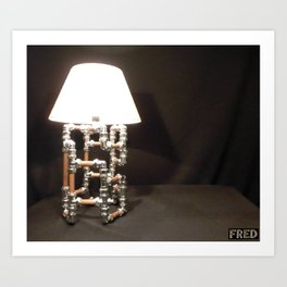 Articulated Desk Lamps - Copper and Chrome Collection - FredPereiraStudios_Page_13 Art Print